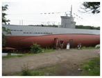 The Vesikko, only surviving Finnish WWII submarine.
